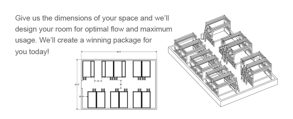 Just give us the dimensions of the bed you are interested in buying, we can create a winning package for you today!