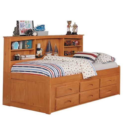 TWIN SIZE CAPTAINS BEDS
