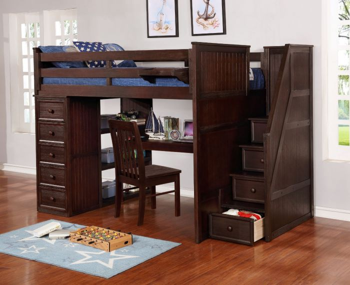 Resort Life Full Size Loft Bed With